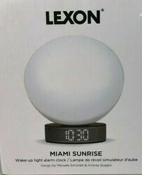 NEW Lexon Miami Sunrise Light Therapy Alarm Clock -