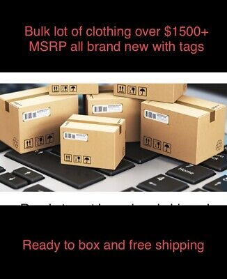 $1, 500+ Bulk Wholesale Lot Men's/Women's Clothing - Major Designer Brand Names