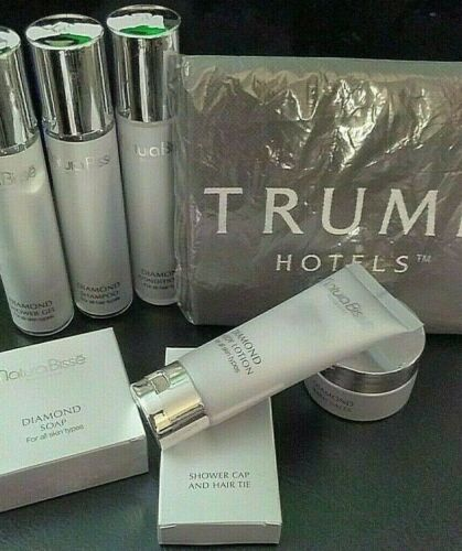 Trump Hotel NEW 8 Piece Kit Natura Bisse Diamond Toiletries w/Reusable Bag 2020