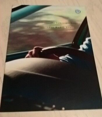 Volkswagen Car & Product Range Catalogue Brochure 1999   Book  Booklet