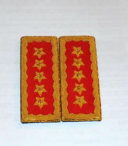Chile Pinochet Presidente General Marshal El Jefe Boards Straps Officer Uniform