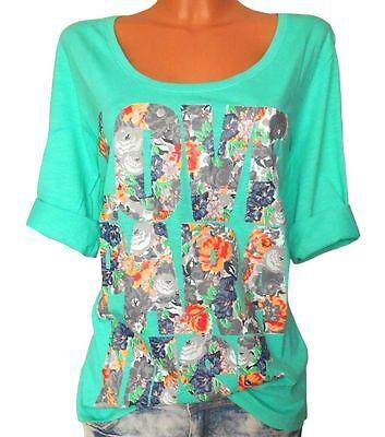 SHEEGO Damen Shirt Blumenprint mint GR. 48 50 NEU - 104