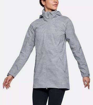 $170 Under Armour Storm Trektic Parka Jacket Women's MEDIUM Gray 1314606-941 NWT