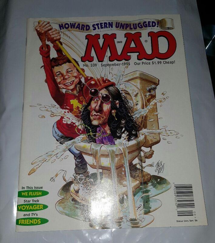 Mad Magazine 339 September 1995 Howard Stern Star Trek Friends