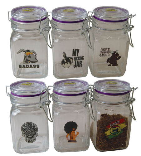 Juicy Jars Airtight Stash Storage Jars - Large Smell Proof Containers USA Seller