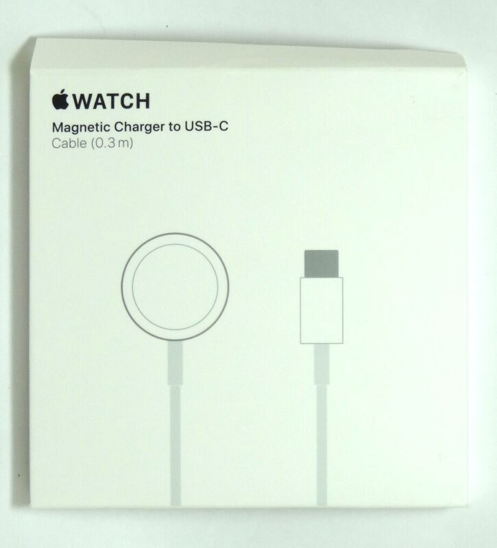 Apple - Apple Watch Magnetic Charger to USB-C Cable (0.3 m) for Macbook Pro/Air
