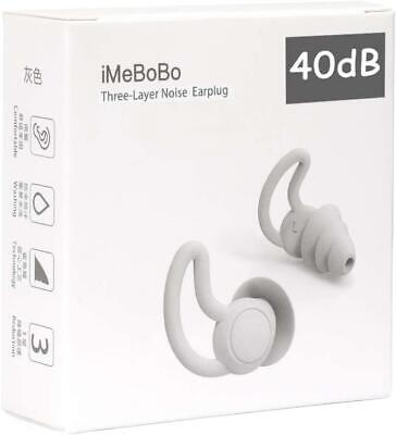 Reusable Safe Silicone Earplugs Noise Cancelling Ear Plugs Sleeping Reduce 40dB