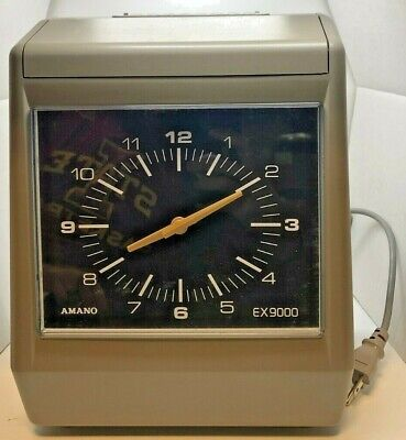 Amano Ex9000 Electronic Time Recorder - Used