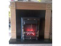 'BE MODERN' ELECTRIC FIRE AND FULL FIREPLACE SURROUND