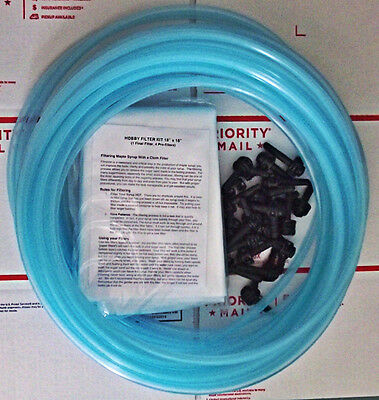 20 New Maple Tapsspoutsspiles 40ft Hose Filter 516 Sap Syrup Free Ship