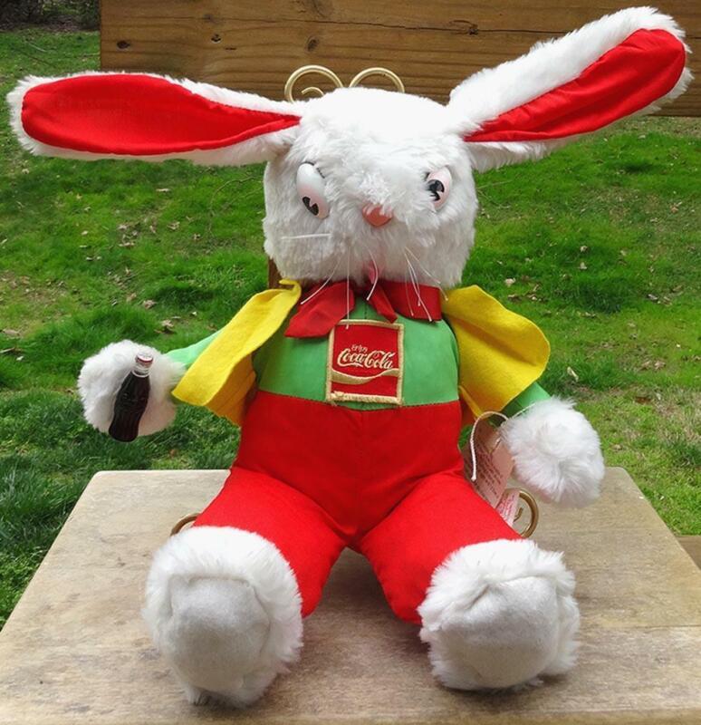 Coca Cola Plush Rabbit Limited Coke Event The Rushton Company Doll Coke Bottle 1
