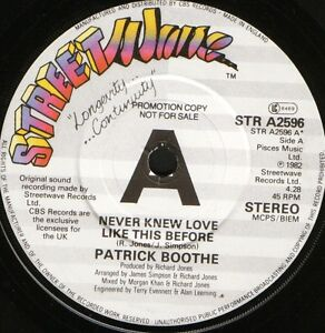 PATRICK-BOOTHE-never-knew-love-like-this-before-STR-A2596-demo-1982-uk-7-WS-EX