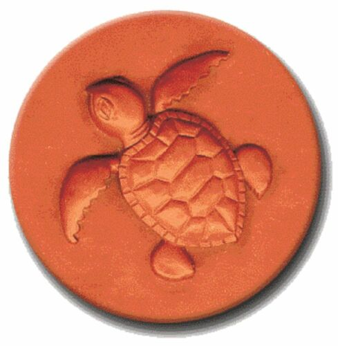 """RYCRAFT 2"""" Round Cookie Stamp with Handle & Recipe Booklet--SEA TURTLE"""