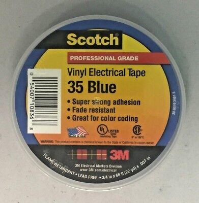 Scotch 10836 Professional 35 Vinyl Electrical Tape 34 X 66 Blue