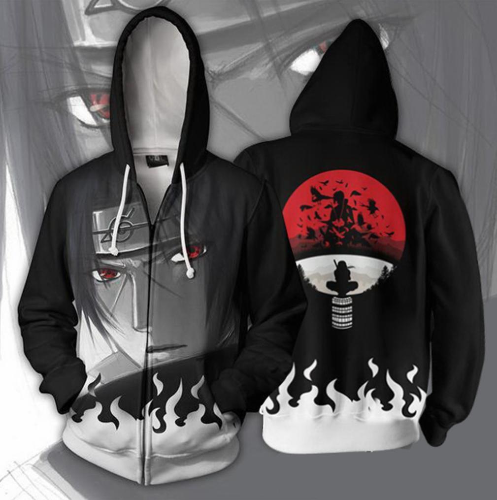 Adults Unisex Mens Womens Naruto Itachi Uchiha Hoodie Sweater Jacket Costume ZG9
