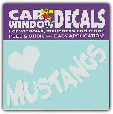 Car Window Decals: I Love Mustangs   Horses Riding   Stickers Cars Trucks Glass