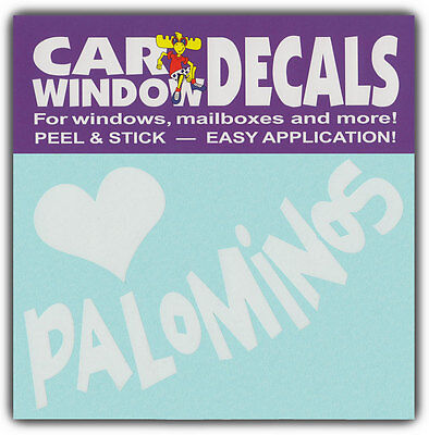 Car Window Decals: I Love Palominos | Horses Lover | Stickers Cars Trucks Glass