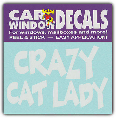 Car Window Decals: CRAZY CAT LADY | I Love Cats | Stickers Cars Trucks Glass