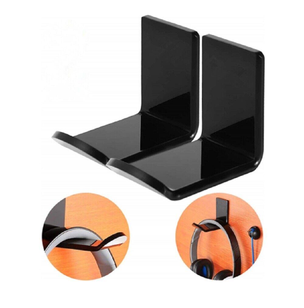Headphone Hanger Display Stand Holder Acrylic Hook Under Desk Headset Wall Mount Consumer Electronics