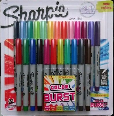 Sharpie Color Burst Permanent Markers Ultra-Fine Point, Assorted 24-Pack 1949558 - Sharpie 24 Pack