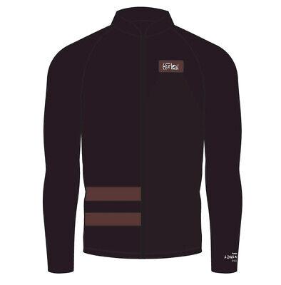New Men's $85 Hurley Advantage Plus Graphic 1.0mm Zip Jacket Burgundy Size Large