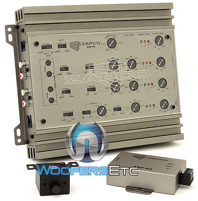 Zapco Asp X4 234Way Processor 8 Ch Electronic Crossover 9 5 Volt Rms Line Driver