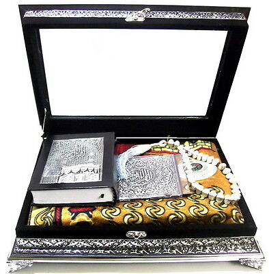 Koran Quran Truhe+Gebetsteppich+CD+Tesbih *Arabisch Islam hijab Muslim Takschita