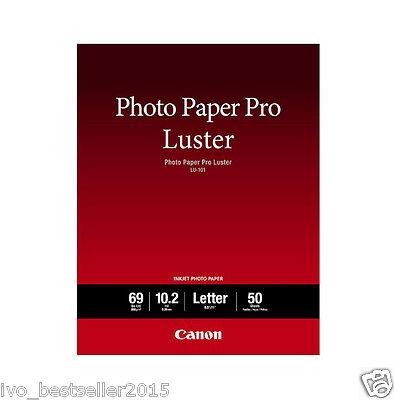 "Canon Photo Paper Pro luster LU101 8.5"" x11"" 50 Sheets Portraits Art Photography"