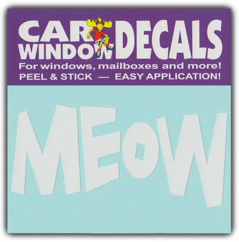 Car Window Decals: MEOW | Cat Lover | Stickers Cars Trucks Glass