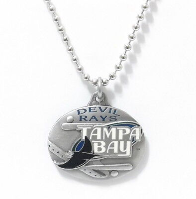 TAMPA BAY DEVIL RAYS LARGE PENDANT NECKLACE 21226-1 new baseball sports jewelry