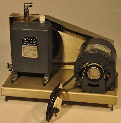 Welch 1399 Dou-seal Vacuum Pump Belt Fed Ge Motor