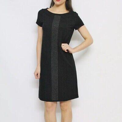 #savingglory MAX & CO MAXMARA Black Grommet Detail T-Shirt Dress Size Medium M