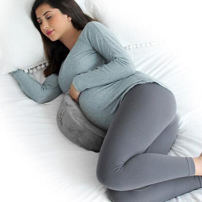 eklo MommyWedge Pregnancy Wedge Memory Foam Maternity Support incl. Velvet Cover
