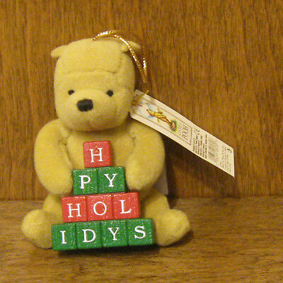 """Classic Pooh Ornament #8032C POOH with BLOCKS, 4"""" New/tag, From Retail Store"""