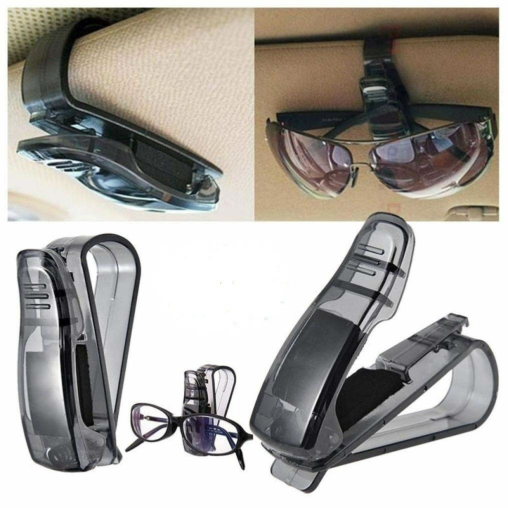 2Pcs Car Auto Sun Visor Glasses Sunglasses Card Ticket Holder Clip Universal Eyeglass Chains & Holders