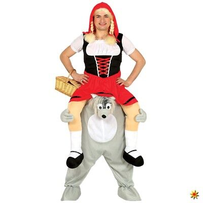 Trag Mich Huckepack Kostüm Wolf Einhgr. Carry me - Trag Mich Huckepack Kostüm