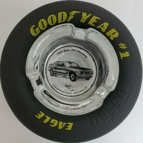 Goodyear Tire Ashtray-1969 Boss 302 Ford Mustang-New