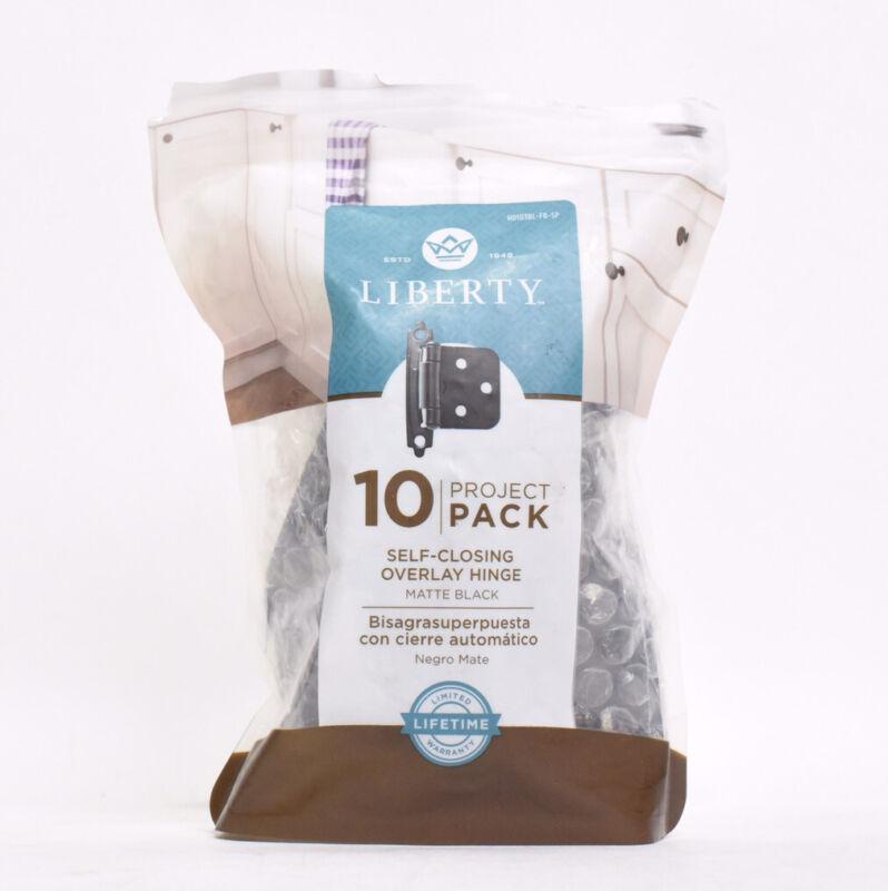 Liberty Self Closing Overlay Hinge 10 Project Packet - Matte Black
