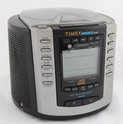 TIMEX INDIGLO Nature Sounds AM/FM Digital Alarm Clock Radio T600B + CD Player