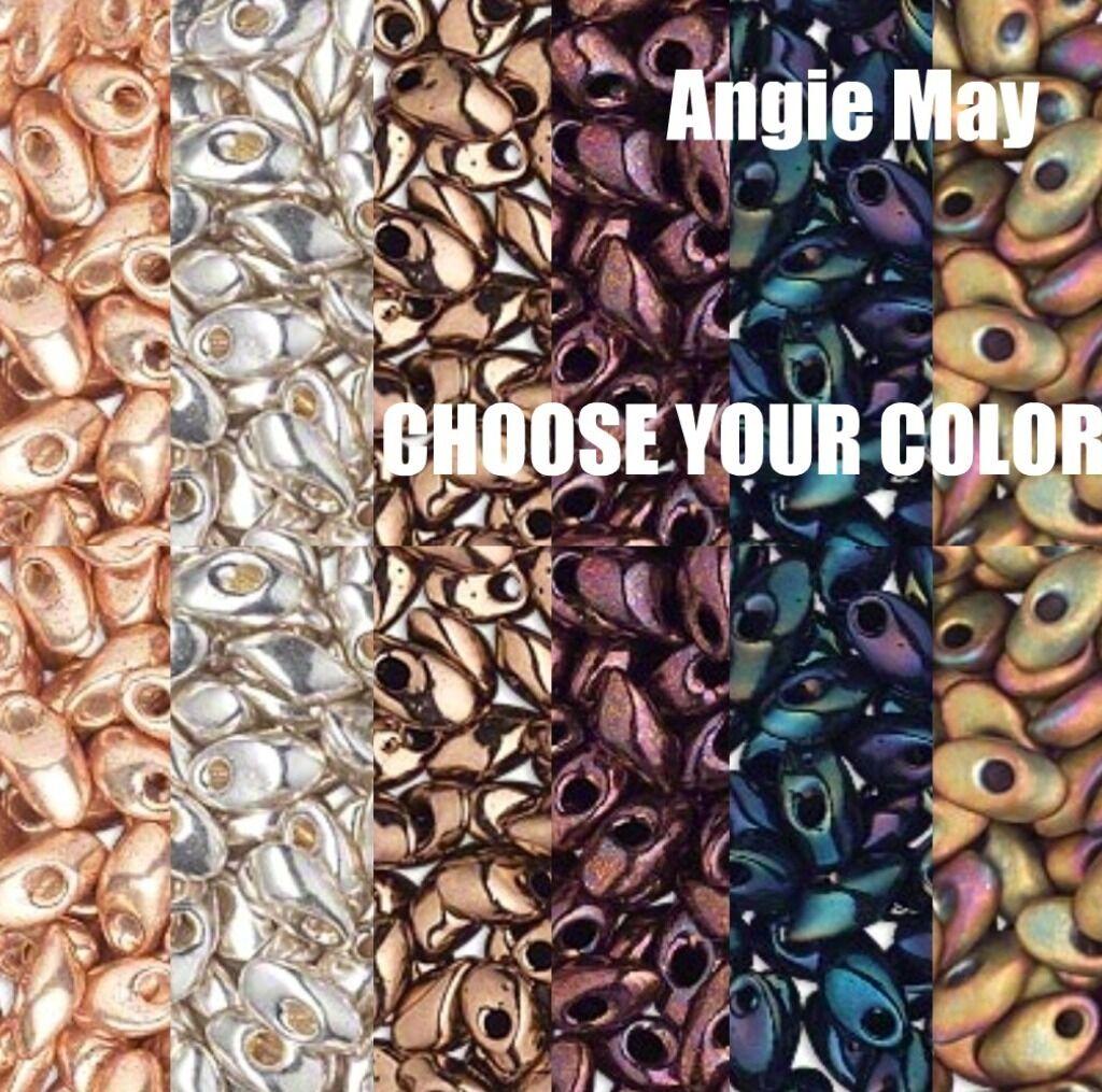 50 Grams Metallic Miyuki 7mm Long Magatama Glass Seed Beads - Pick Your Color