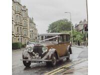 Vintage Rolls Royce Chauffeur Driven Wedding Car Edinburgh & Lothians