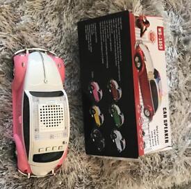 Pink Beetle Shaped MP3 MUSIC RADIO LED Player