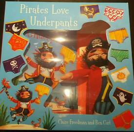 Pirates love underpants book and toy gift set