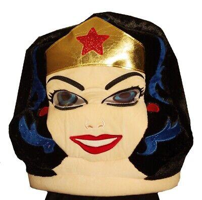 Maskimals Womens Adult Big HEAD WONDER WOMAN Costume Mask Halloween Purim NEW](Big Head Costumes Halloween)