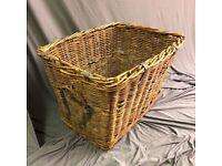 industrial large wicker laundry basket, hamper basket