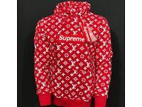 Louis Vuitton x Supreme Hoodie size L