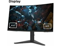 "Lenovo G32qc-10 31.5"", QHD, VA, FreeSync, 144Hz, Curved Gaming Monitor 1440p"