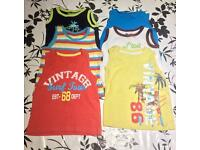 baby boys bundle clothes 12-18 months, vests , t-shirts, shorts, swimming shorts and outfit, hat