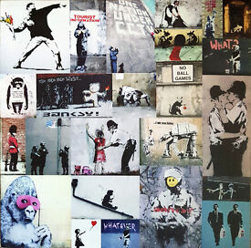BANKSY 'COLLAGE OF ART' CLASSIC CANVAS - EXCELLENT CONDITION - £5
