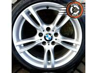 "18"" Genuine BMW M Sport 3 ser staggered alloys premium tyres."